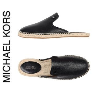 BRAND NEW authentic MK mule espadrille leather